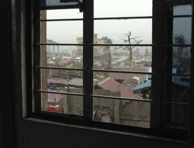 DEVASTATION. This is the view from Liezl's window when Yolanda hit her home in Tacloban