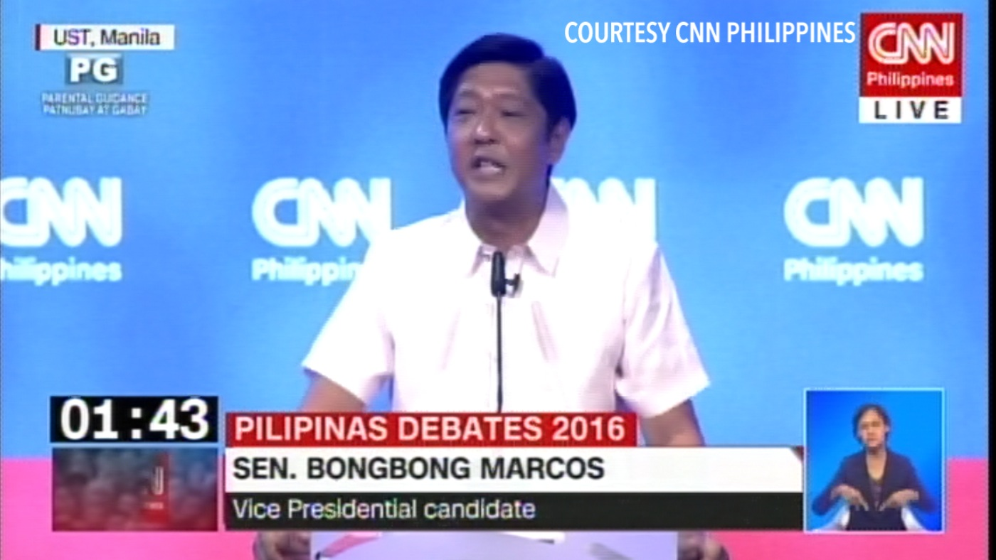 Candidates gang up on Bongbong Marcos in VP debate