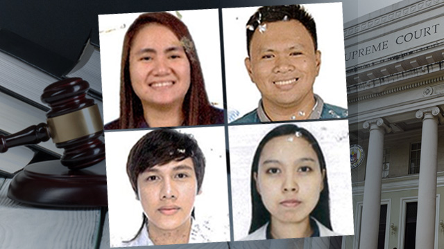 CLOCKWISE: Top 3 Camille Remoroza from Ateneo de Davao, Top 6 Lorenzo Luigi Gayya from UST, Top 18 Aecaya Christine Calero from UST and Top 9 Klinton Torralba from UST
