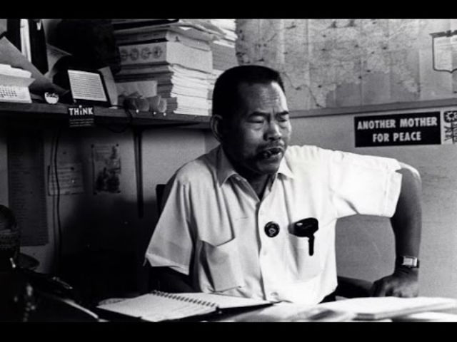 LABOR LEADER. Larry Itliong is among several Filipino American leaders of the farm labor movement in California. Photo courtesy of Melissa Aroy