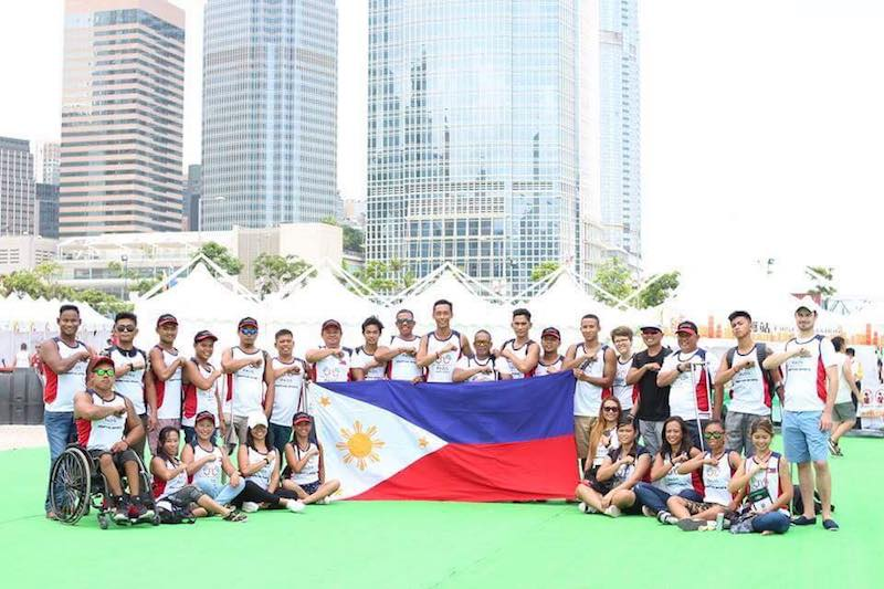 WINNERS. Breaking barriers, the first Filipino cross-disability dragon boat racing team wins gold in the Hong Kong paradragon racing event. Photo courtesy of JP Maunes