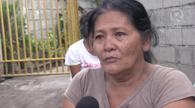 WIFE. Dominica Arcenal recalls how she learned that his husband, fisherman Luciano, was arrested in Indonesia. Photo by Buena Bernal/Rappler