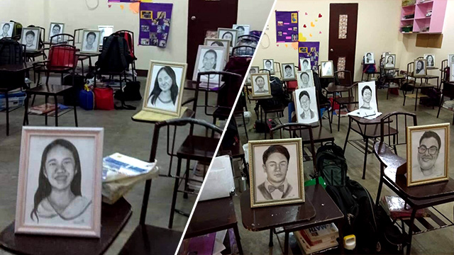 Roselyn Barcoma draws the portraits of her 27 students as Christmas gift.
