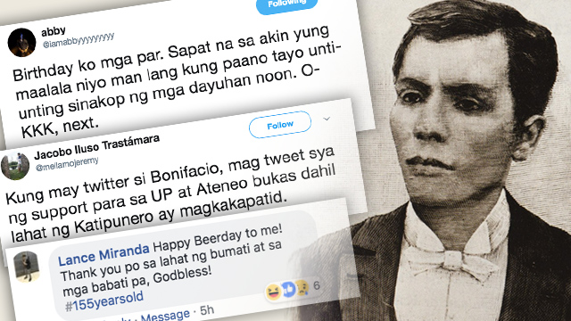 #BEBONIFACIO. Rappler revived a Twitter conversation encouraging netizens to tweet how the hero of the revolution would react to 2018 events.