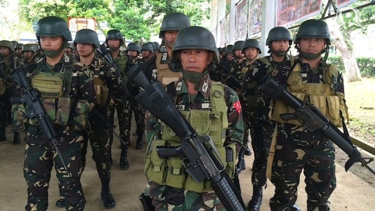 File photo of troops in Sulu