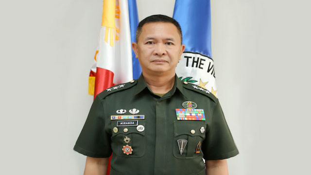 ACTING ARMY CHIEF. Lieutenant General Glorioso Miranda, who retires in less than a year, is acting army chief