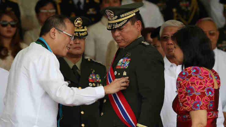 NEW CHALLENGE? General Emmanuel Bautista retired as Armed Forces chief in July 2014. Malacañang file photo