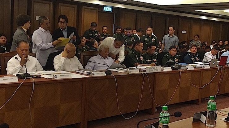 BUDGET HEARING: The House of Representatives committee on appropriations deliberates budget of the defense department on September 9, 2014. Rappler photo