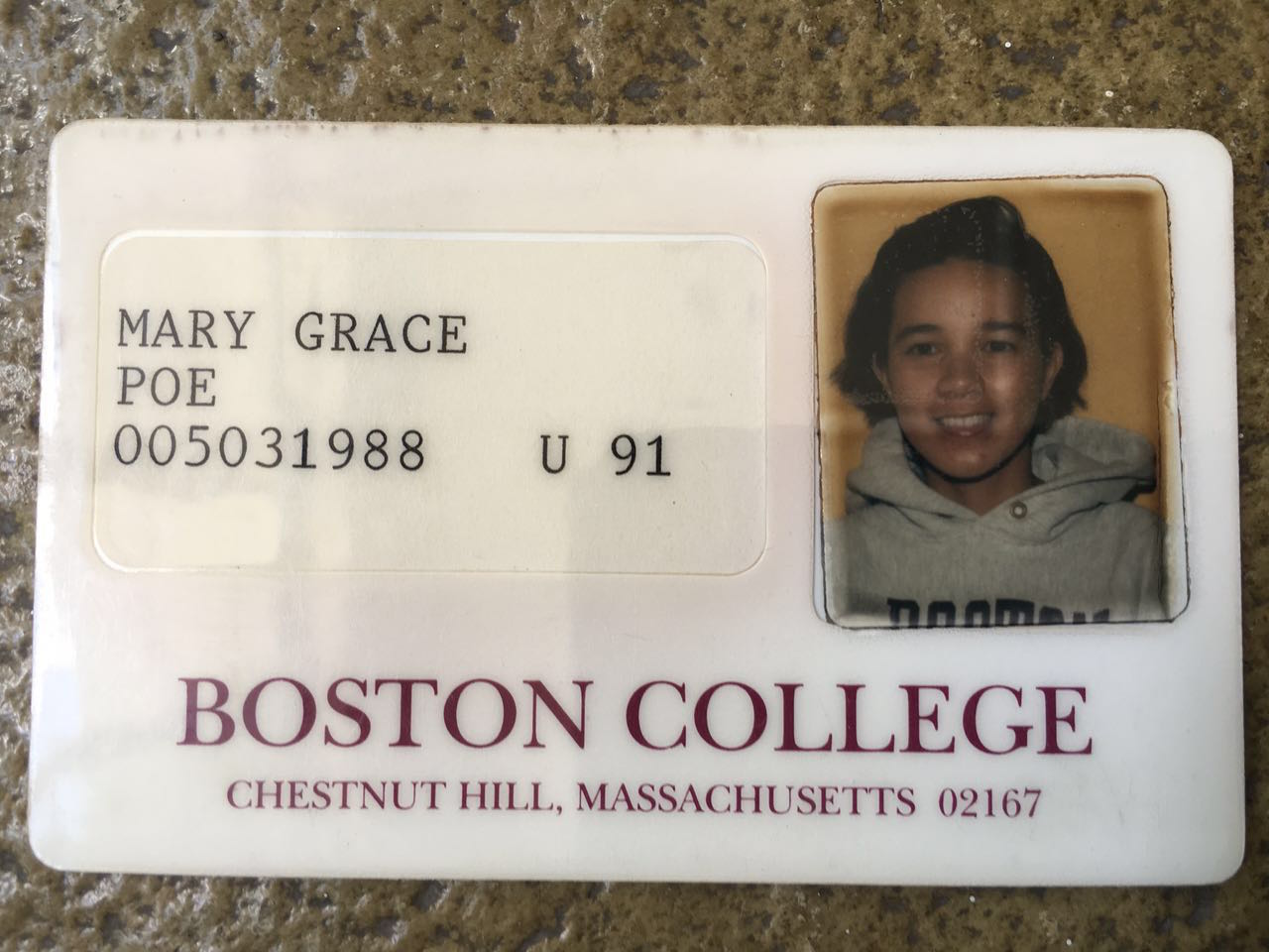 LOOK: 'Fake' SSN? Poe shows Boston College ID to disprove it