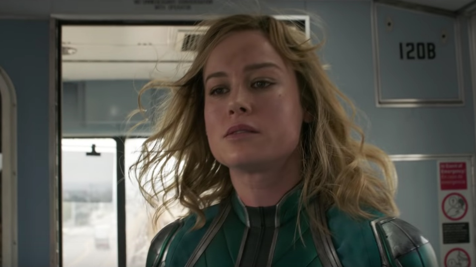 MARVEL HEROINE. Brie Larson plays Carol Danvers, known as Captain Marvel, in the upcoming solo heroine film coming to theaters in March 2019. Screenshot from Marvel Entertainment's Youtube page