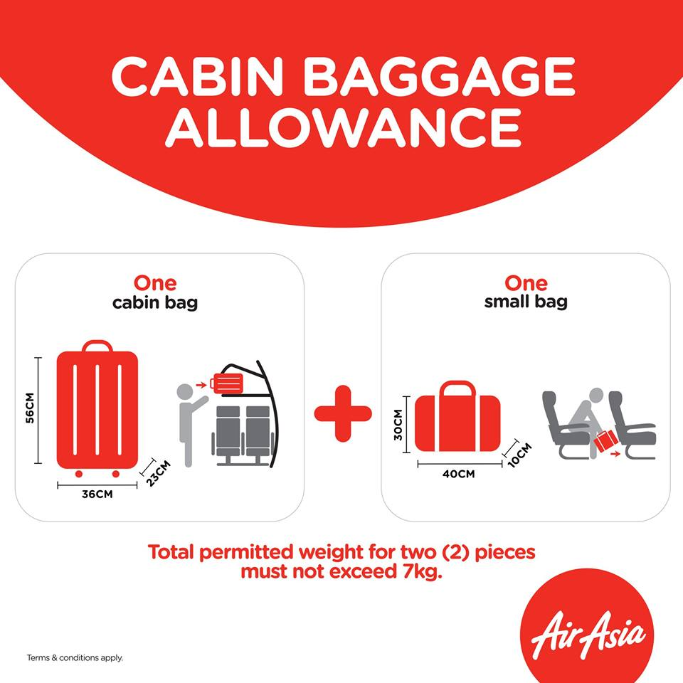 RULE. AirAsia airline posts their updated rule on baggage allowance. Photo grabbed from AirAsia.