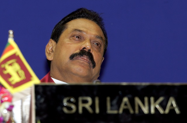 ... Sri Lankan President Mahinda Rajapakse. File photo by Harish Tyagi/EPA
