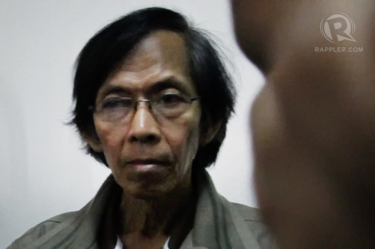 STAYING PUT. Government lawyers decline to support private prosecutors' bid to transfer retired army general Jovito Palparan to a regular jail. File photo by Rappler