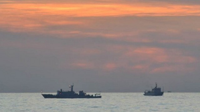 2 YEARS TO GO? The Philippines anticipates a ruling on its historic case against China by January 2016 at the earliest. 2012 file photo of Chinese surveillance ships off Scarborough Shoal by DFA/Philippine Navy/AFP
