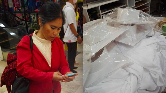 SECOND MOTHER. Elementary teacher Virgita Diaz from Malungon, Sarangani, buys 15 sets of graduation togas for her students who could not afford one on their own. Photo by Cris Cordero