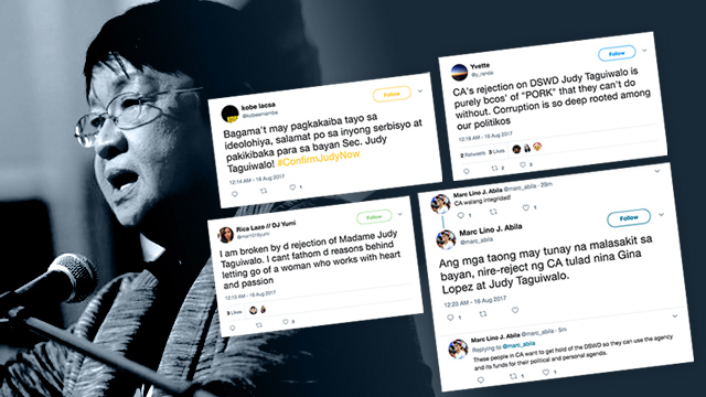 PUBLIC SERVANT. Netizens react to the rejection of Judy Taguiwalo as DSWD chief.