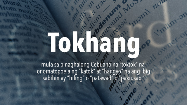 Tokhang': Maililista na kaya sa Oxford Dictionary?