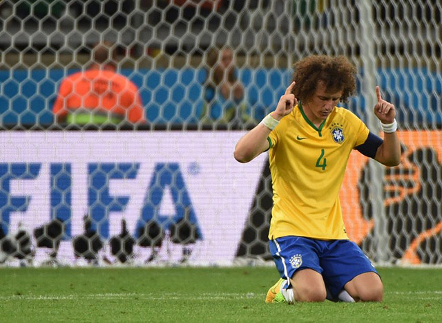 Luiz praying after 7-1 loss to Germany