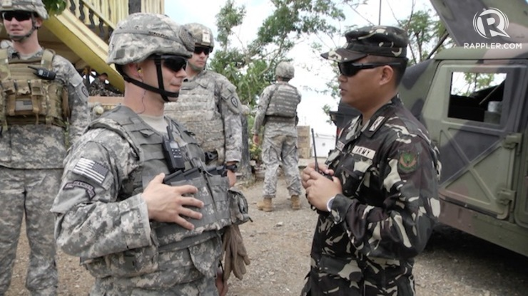 SHARED CULTURE: US troops don't find it hard to mingle with Filipino troops because of shared interests