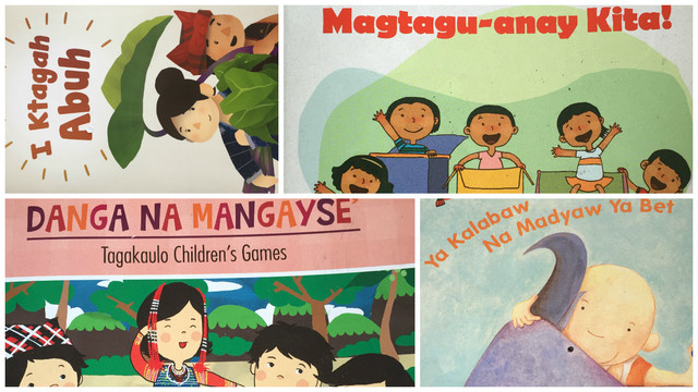 MOTHER TONGUE. These are children's books written in various Philippine languages published by Adarna House through Save the Children's First Read program. Photo from Save the Children