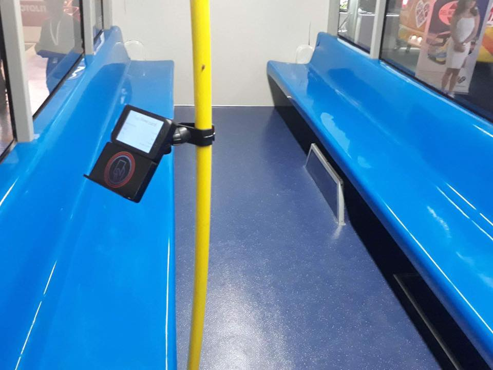 AUTOMATIC. Instead of passing the fare to the driver, the new jeepney features an automated fare collection system similar to the payment system of Metro Manila's 3 rail trains.
