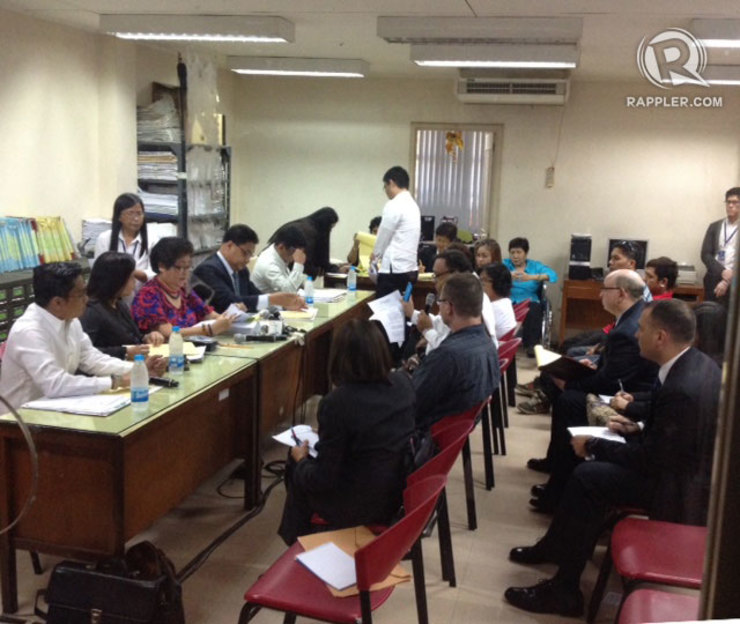 PRELIMINARY HEARING. The Olongapo City Prosecutor's Office resumes preliminary hearing on the Pemberton case. Photo by Randy Datu