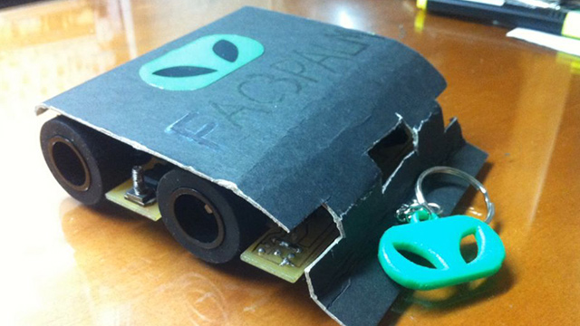 SUMOBOT. One of Angelo's projects: a mini sumo robot. Photo from Angelo Casimiro