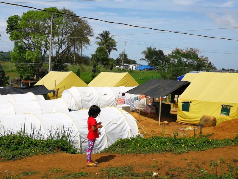 SHELTERS. Tents provide temporary homes and shelters for the community.
