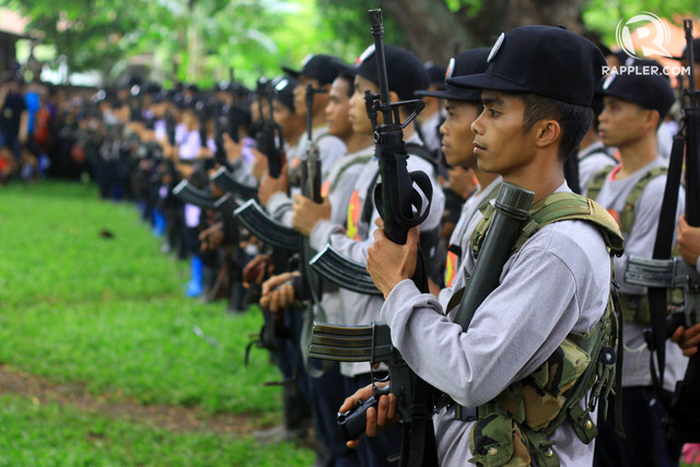 NORTHERN MINDANAO FORCE. NPA guerrillas from Northern Mindanao gather in Medina, Misamis Oriental on December 26, 2016. Photo by Bobby Lagsa/Rappler