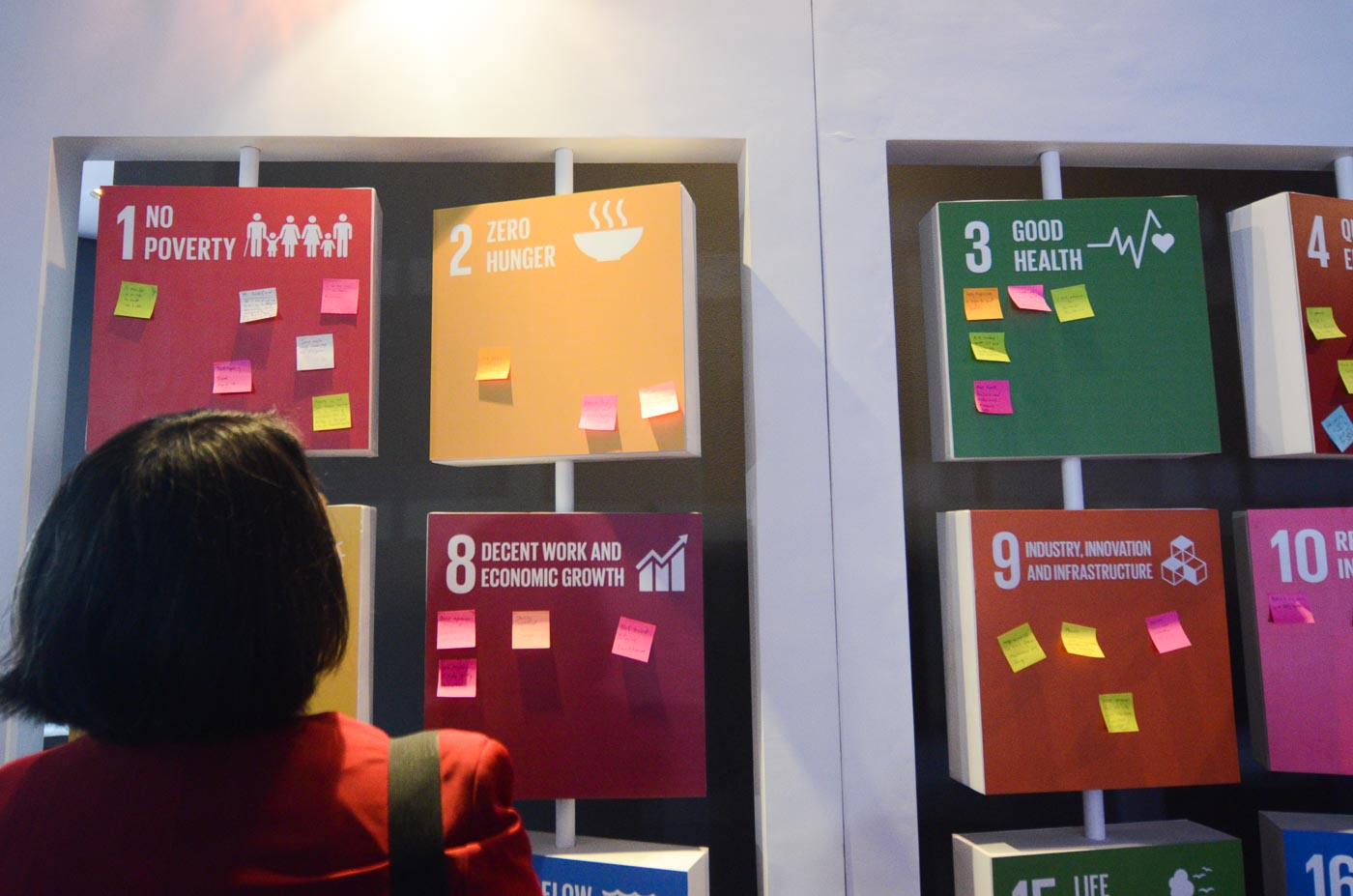 Participants of the Social Good Summit are asked to put their concrete contributions to the UN's global goals.
