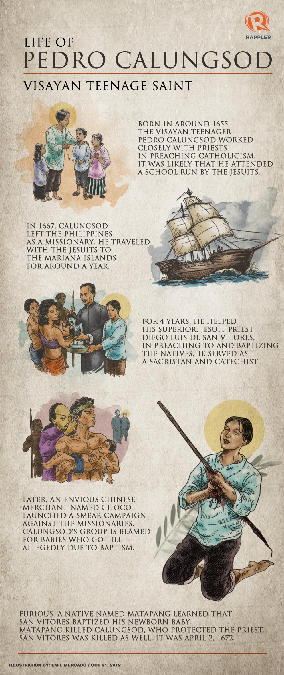 article concerning your lifespan involving pedro calungsod