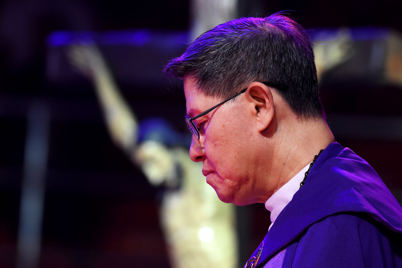 TYPHOON OMPONG. Manila Archbishop Luis Antonio Cardinal Tagle mobilizes help for Filipinos to be affected by Typhoon Ompong (Mangkhut). File photo by Angie de Silva/Rappler