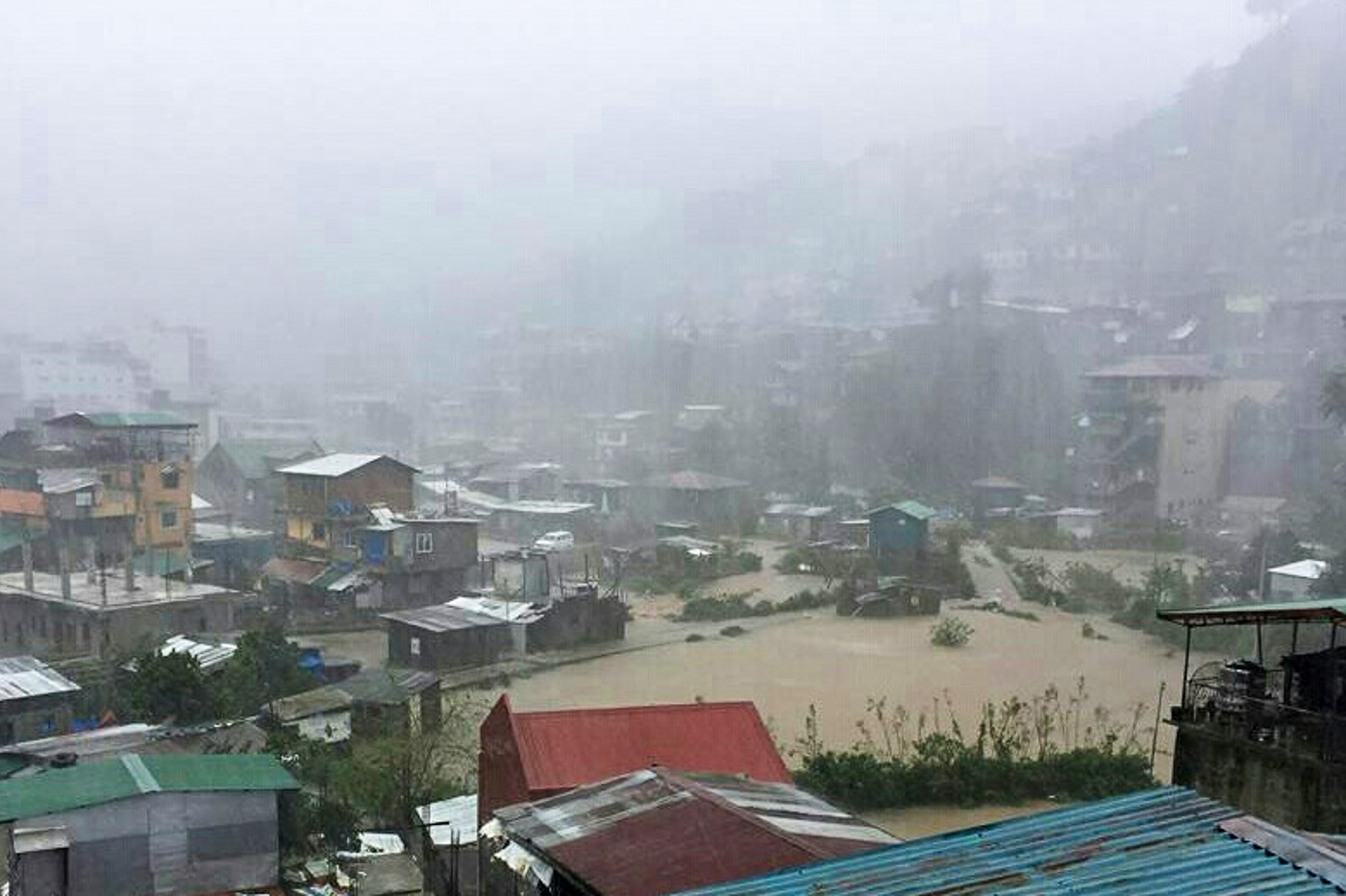 OMPONG. Flooding in Baguio City on September 15, 2018, due to Typhoon Ompong. File photo by Mau Victa/Rapple