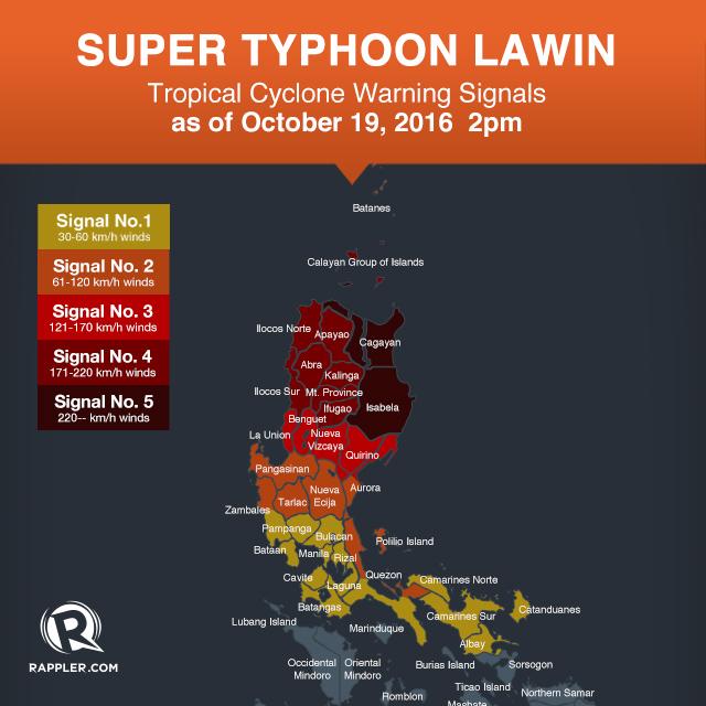 Super Typhoon Lawin: Signal no  5 in Cagayan, Isabela