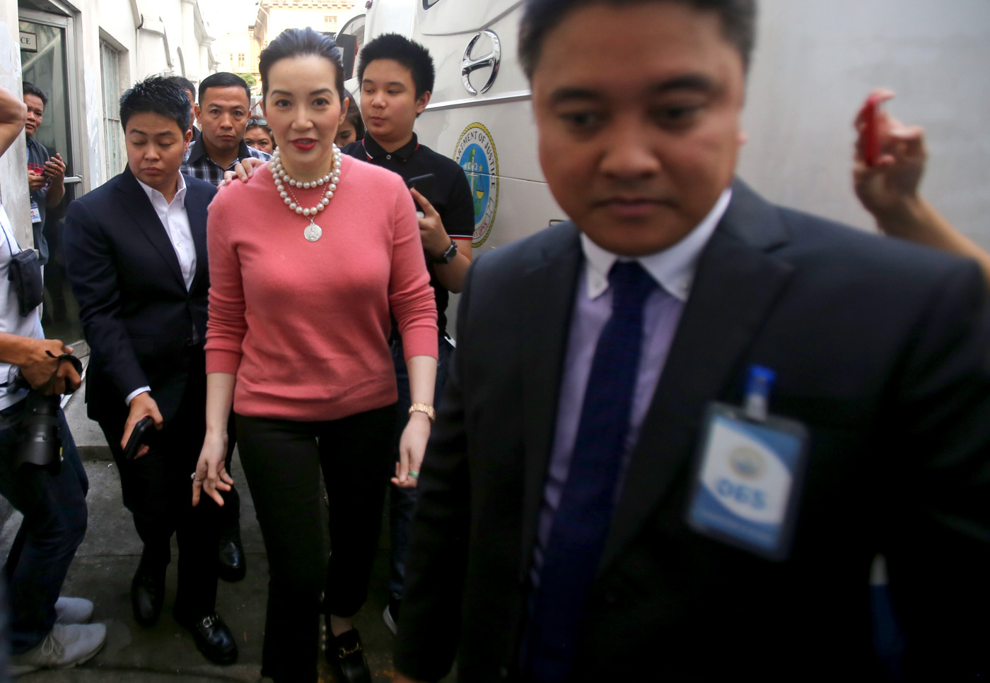 LEGAL BATTLE. Kris Aquino arrives at the Department of Justice to file cybel libel case against Atty. Jesus Falcis on November 22, 2018. File photo by Inoue Jaena/Rappler