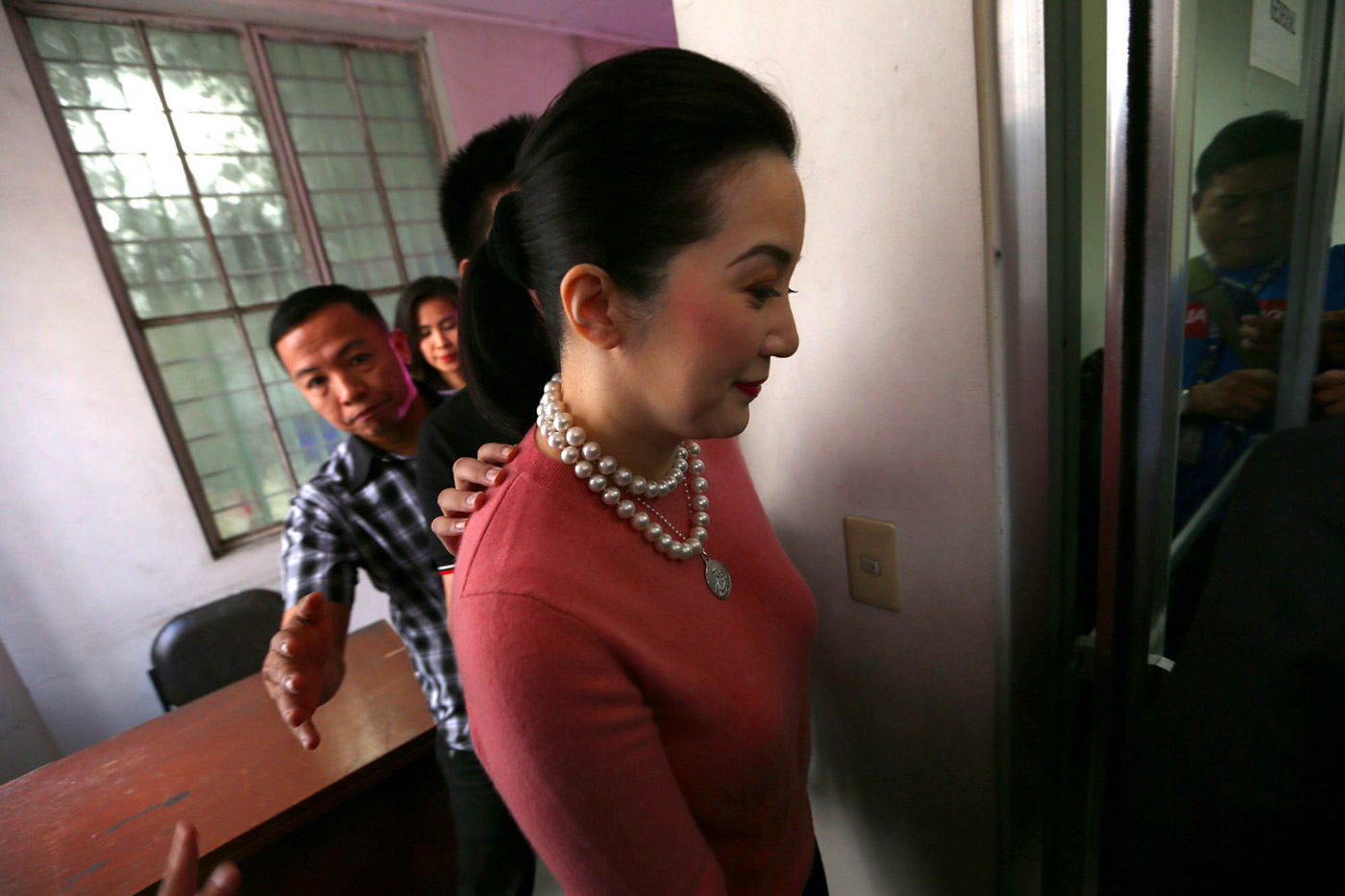 ANOTHER ONLINE BATTLE? Kris Aquino this time denies allegations made by Gretchen Barretto. In this file photo, Kris files a cyber libel case against Jesus Falcis on November 22, 2018. Photo by Inoue Jaena/Rappler