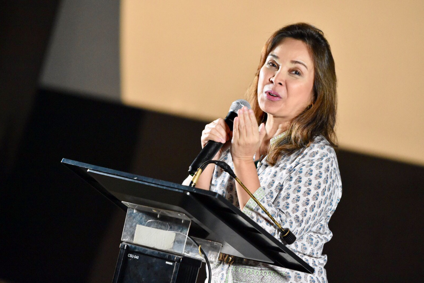 ADVOCATE. On the occasion of the National Heroes' Day, Senator Loren Legarda encourages the audience to 'let the hero in us be heard'