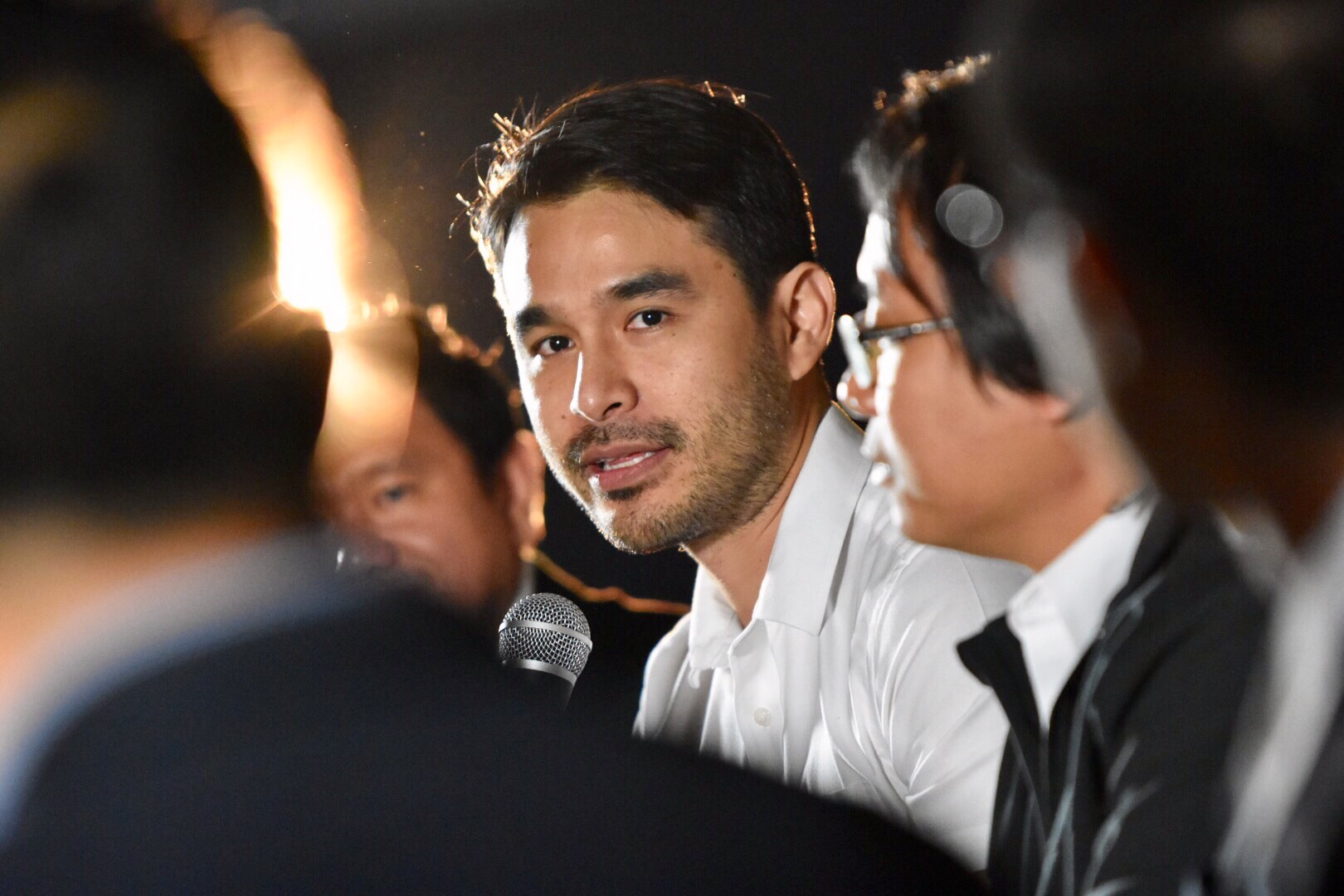 MEDIA'S ROLE. In a panel discussion, broadcast journalist Atom Araullo says that in the fight against climate change, journalists have the responsibility not only to learn how to connect the dots but also to convey the bigger picture