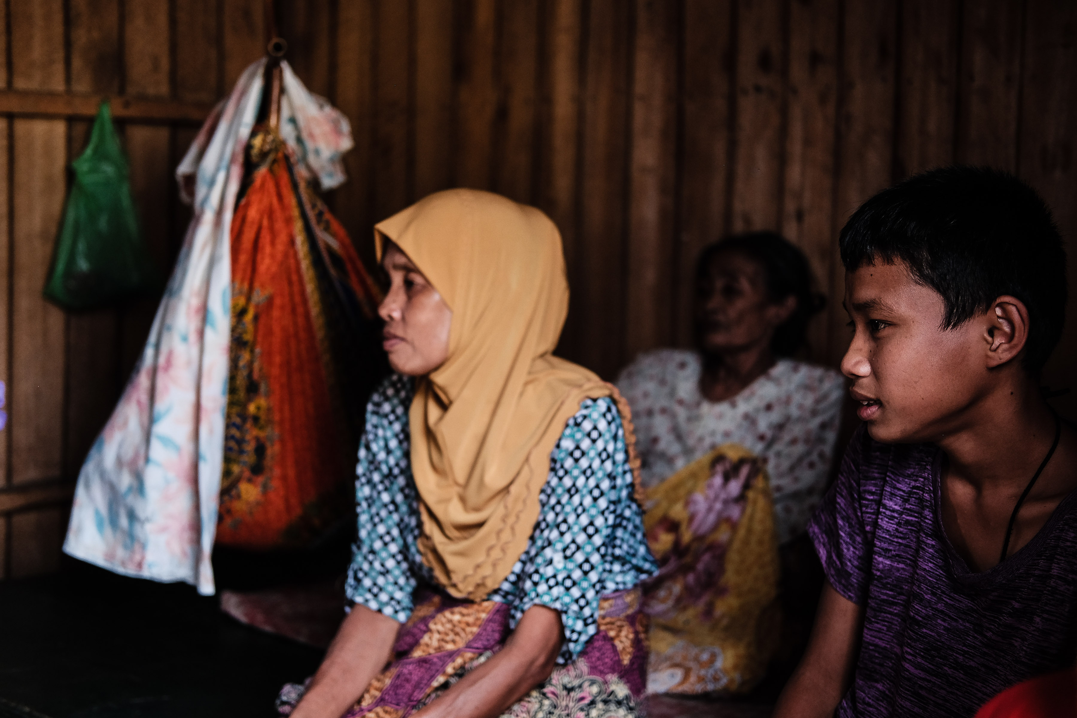 IDPs.  In this file photo, a home-based internally displaced family sits inside their tiny house near the town plaza of Pantar, Lanao del Norte. Home-based IDPs complains of lack of access to government supports saying government are favoring those in evacuation centers. Photo by Bobby Lagsa/Rappler