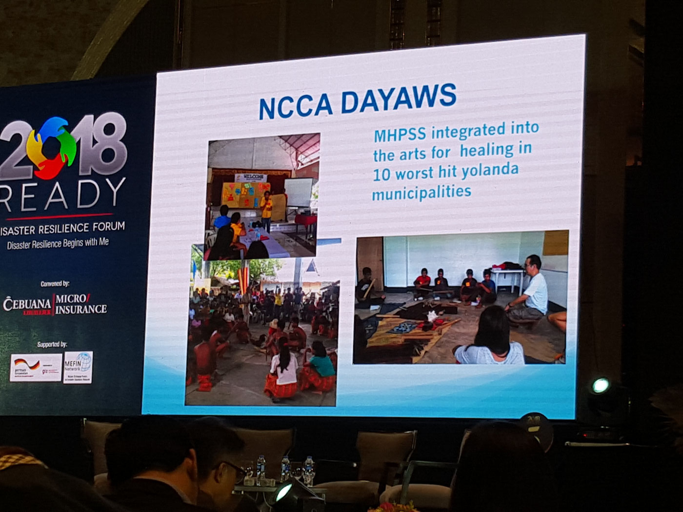 ART AS THERAPY. Lopez discusses how the NCCA's Dayaw festivals help Yolanda victims heal. Photo by Gaby N. Baizas/Rappler