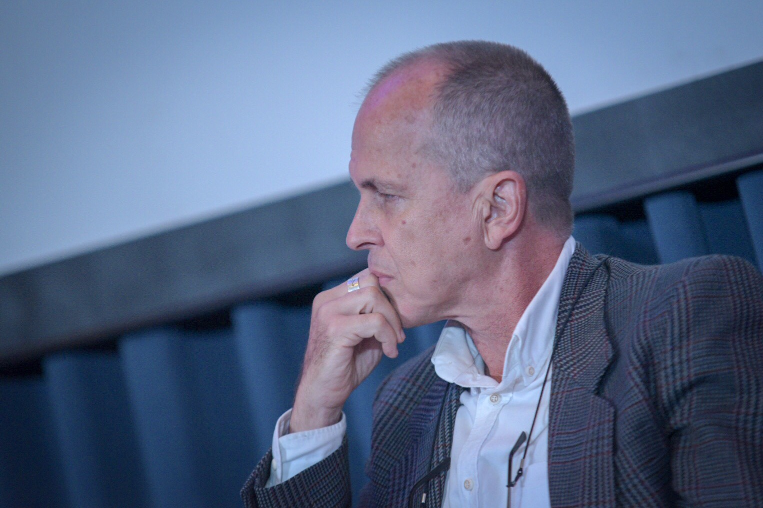 FAKE NEWS LAW 'DANGEROUS'. Peter Greste during his Democracy and Disinformation Forum panel at the Ateneo Law School in Makati on February 12, 2018. Photo by LeAnne Jazul/Rappler
