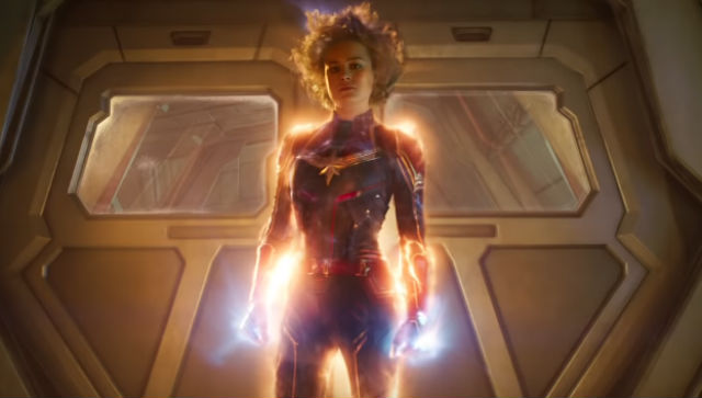CAPTAIN MARVEL. Brie Larson takes on the role of one of Marvel's most powerful women superheroes onscreen. All screenshots from YouTube/Marvel Entertainment