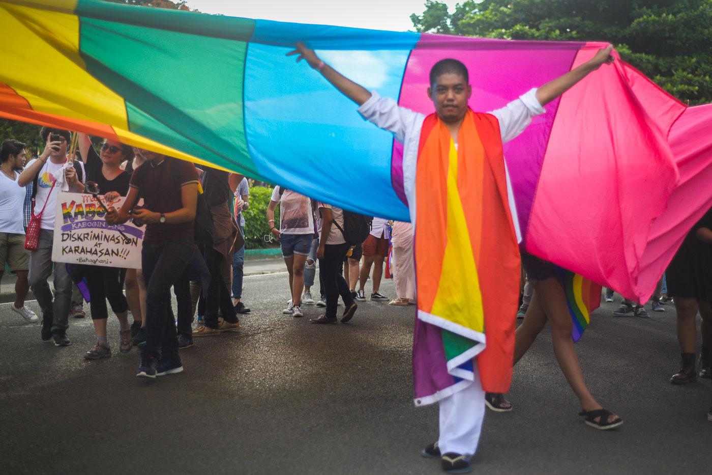 PRIDE MARCH. In this file photo, LGBT groups and individuals gather at the Luneta to celebrate the 22nd Pride March in the Philippines on June 25, 2016.
