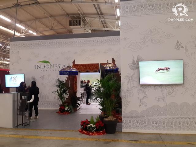 Tampak depan Paviliun Indonesia di COP 21, Paris, Perancis. Foto oleh Uni Lubis/Rappler