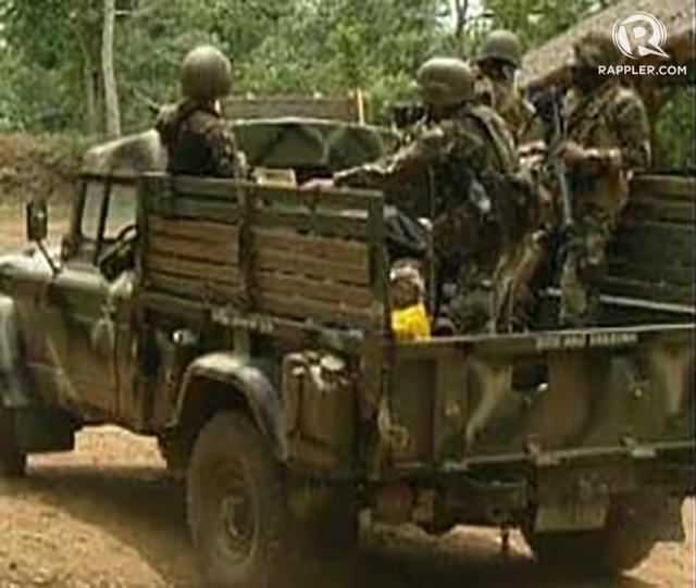 SECURING BASILAN. Army troops on patrol on Thursday, April 14, in Basilan. Photo by Richard Falcatan/Rappler