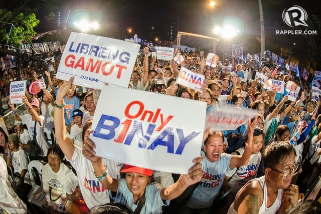 ONLY BINAY. Around 5.32 million voters believed the Vice President would help bring them out of poverty. Photo by Rob Reyes/ Rappler