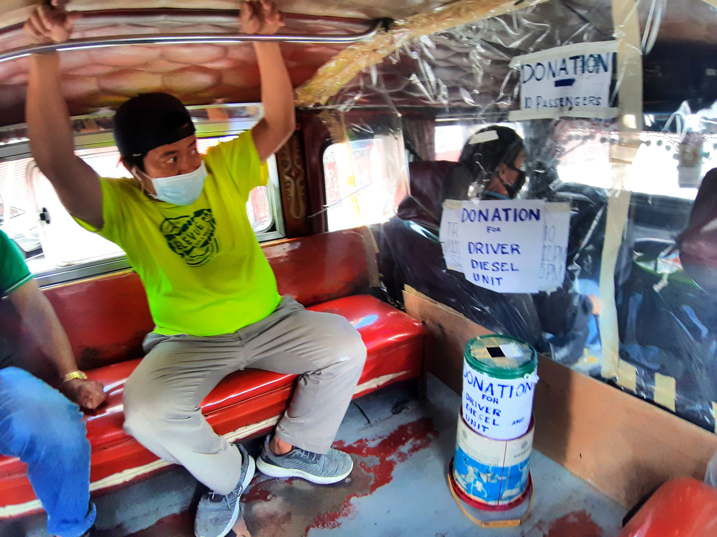 Baguio Jeepneys Use Plastic Sheets For Physical Distancing