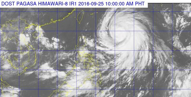 Satellite image as of September 25, 10 am. Image courtesy of PAGASA