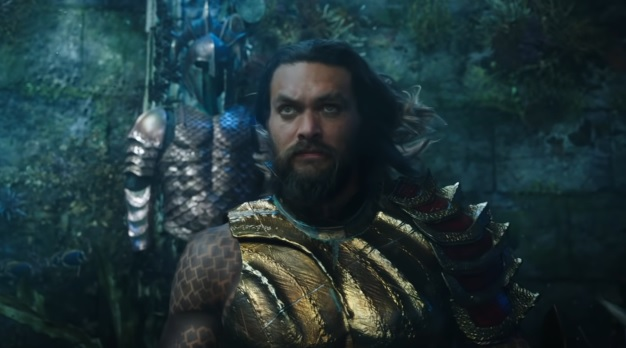KING OF THE SEA. Jason Momoa is Arthur Curry, aka Aquaman. All photos from Warner Bros