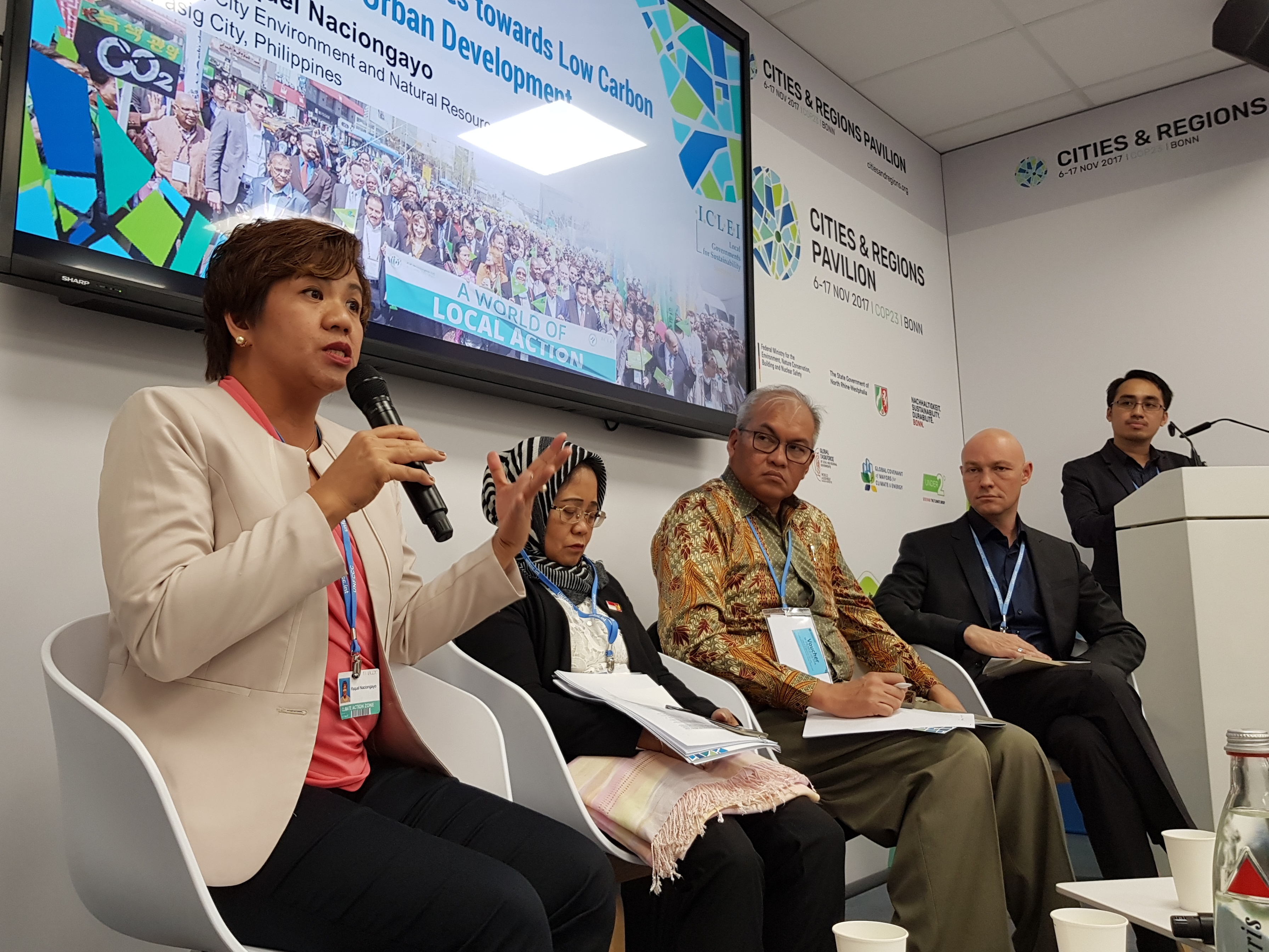 CLIMATE CHANGE. ASEAN cities present sustainable climate change mitigation initiatives during the annual United Nations Climate Change Conference (COP23) in Germany. Photo by Mickey Eva